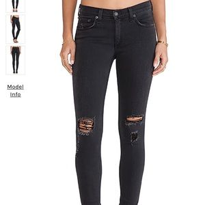 Rag & Bone The Skinny Soft Rock w/ Holes Jeans